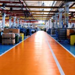 pavimento arancio blu modificato